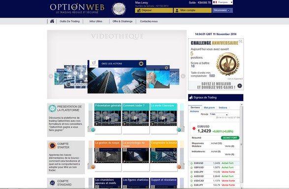 Avis courtier options binaires OptionWeb régulé AMF et CySEC