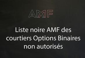 AMF liste noire options binaires et forex