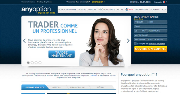 Site pari option binaire