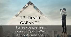 Premier trade remboursé Option Web