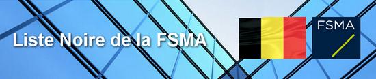 FSMA Liste noire Forex Options binaires
