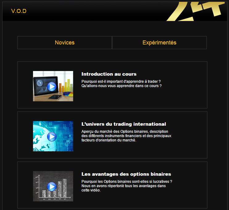 24Option propose des cours vidéos gratuit options binaires trading