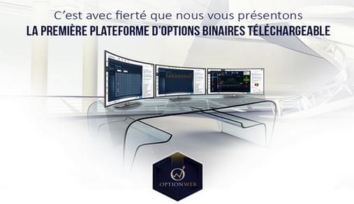 OptionWeb plateforme trading telechargeable