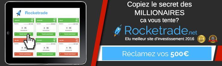 Rocketrade 500€ offert gratuitement